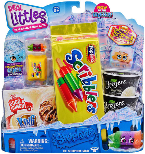 Shopkins Real Littles Season 13 Shopper 8-Pack [8 Shopkins & 8 Mini Packs, RANDOM Figures!]