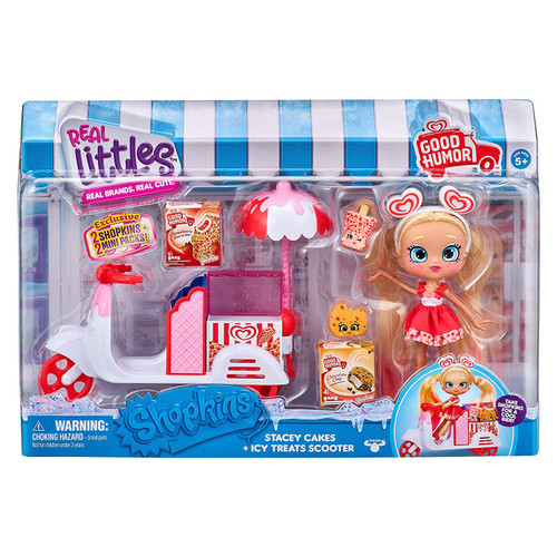 Shopkins Real Littles Season 13 Stacey Cakes & Icy Treats Scooter Playset