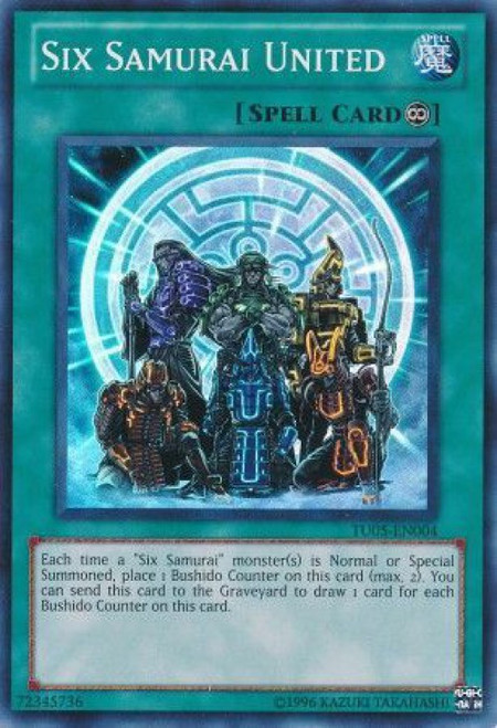YuGiOh Turbo Pack: Booster Five Super Rare Six Samurai United TU05-EN004