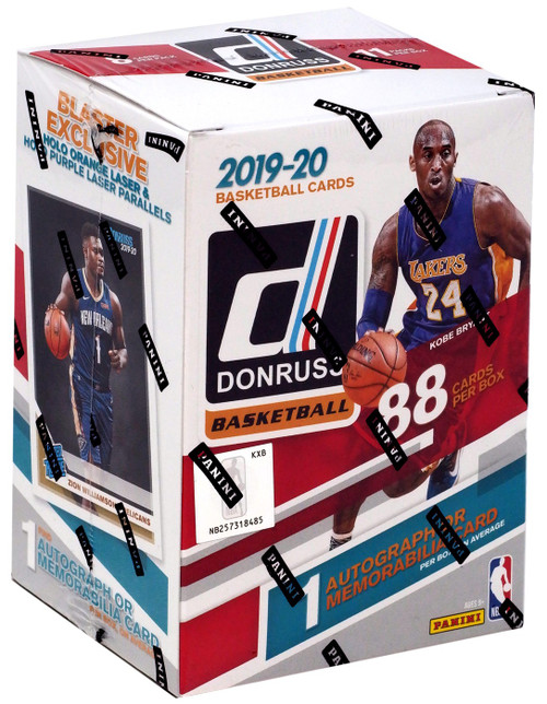 NBA Panini 2019-20 Donruss Basketball Trading Card BLASTER Box [11 Packs, 1 Autograph OR Memorabilia Card]