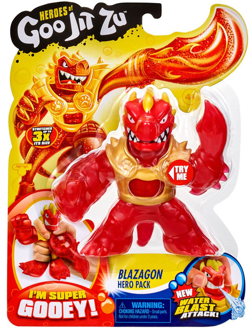 Heroes of Goo Jit Zu Blazagon Action Figure [Dragon, Version 2, Gold Shoulder Guards, Water Blast]