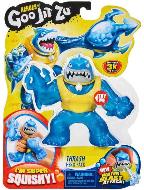 Heroes of Goo Jit Zu Thrash Action Figure [Shark, Version 2, Water Blast, Yellow Vest]