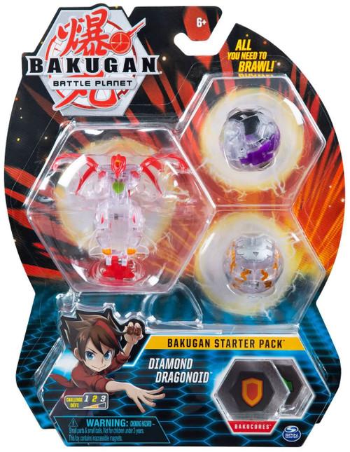 Bakugan Battle Planet Starter Pack Diamond Dragonoid 3-Figure Set