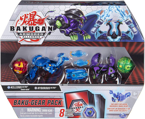 Bakugan Battle Planet Armored Alliance Baku-Gear Nillious Ultra & Hydorous Ultra Baku-Gear Pack