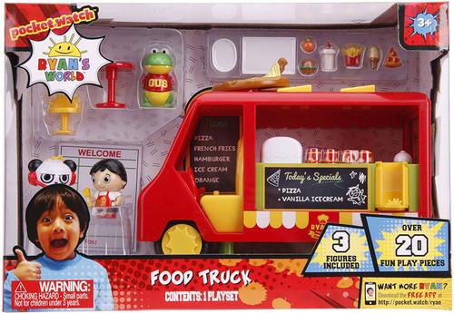 Pocket Watch Ryan's World Food Truck Playset