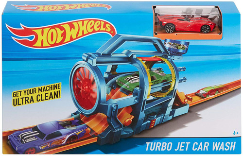 Hot Wheels City Turbo Jet Car Wash Diecast Car Playset