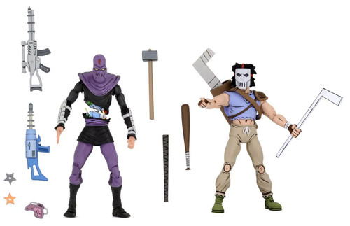 NECA Teenage Mutant Ninja Turtles Casey Jones & Slashed Foot Soldier Exclusive Action Figure 2-Pack