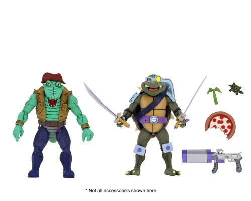 NECA Teenage Mutant Ninja Turtles Leatherhead & Slash Action Figure 2-Pack
