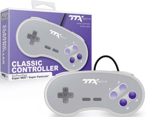 Super Nintendo Classic Wired Controller [Purple Buttons] (Pre-Order ships January)