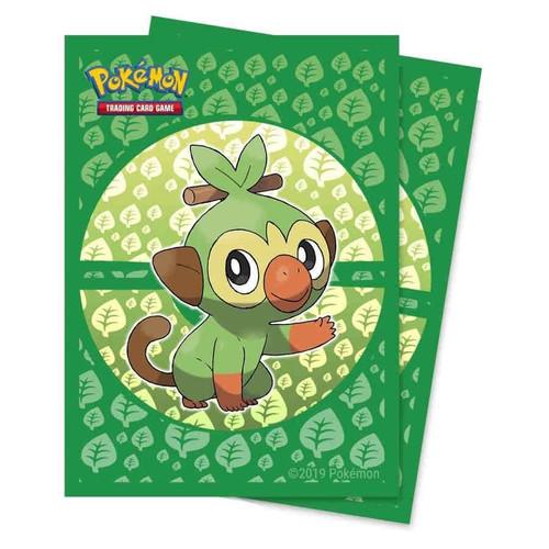 Ultra Pro Pokemon Trading Card Game Sword & Shield Galar Starters Card Sleeves Standard [Grookey]