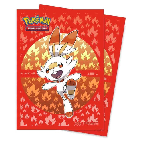 Ultra Pro Pokemon Trading Card Game Sword & Shield Galar Starters Card Sleeves Standard [Scorbunny]
