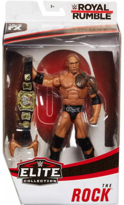 WWE Wrestling Elite Collection Royal Rumble The Rock Exclusive Action Figure
