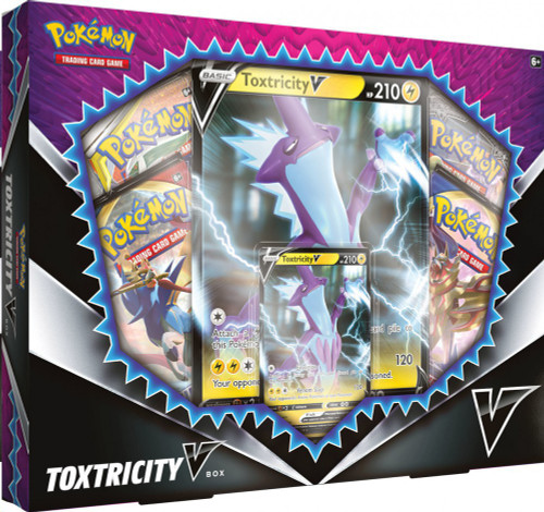 Pokemon Trading Card Game Toxtricity V Box [4 Booster Packs, Promo Card & Oversize Card!]
