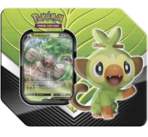 Pokemon Trading Card Game Galar Partners Rillaboom V Tin [5 Booster Packs & Promo Card]