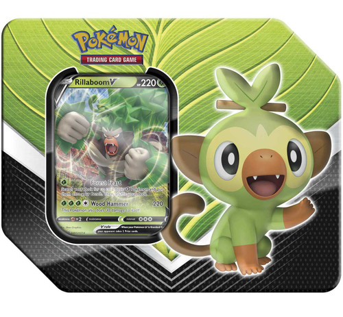 Pokemon Trading Card Game Galar Partners Rillaboom V Tin