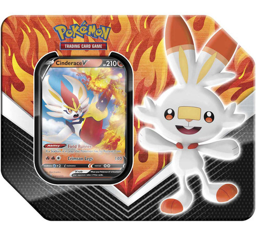Pokemon Trading Card Game Galar Partners Cinderace V Tin