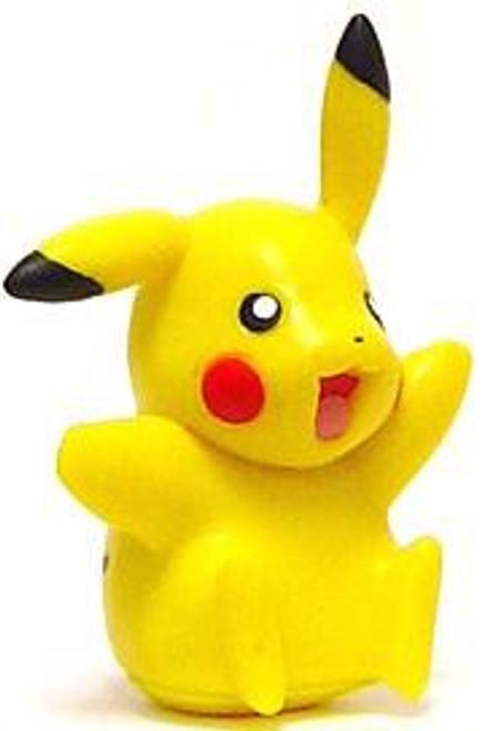Pokemon Diamond & Pearl Pikachu Figure [Sitting & Waving, Loose]