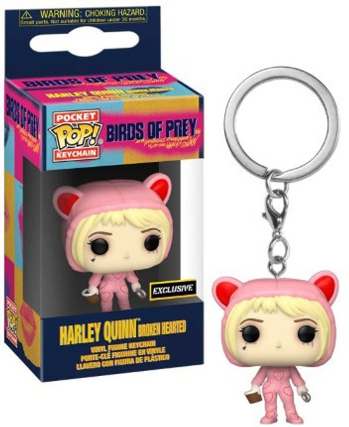 Funko DC Birds of Prey Pocket POP! Heroes Harley Quinn Exclusive Keychain [Broken Hearted]