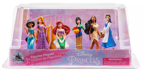 Disney Princess Exclusive 6-Piece PVC Figure Play Set [Ariel, Belle, Pocahontas, Mulan, Jasmine, & Rapunzel]