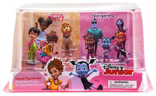 Disney Junior Fancy Nancy & Vampirina Exclusive 9-Piece PVC Figure Play Set