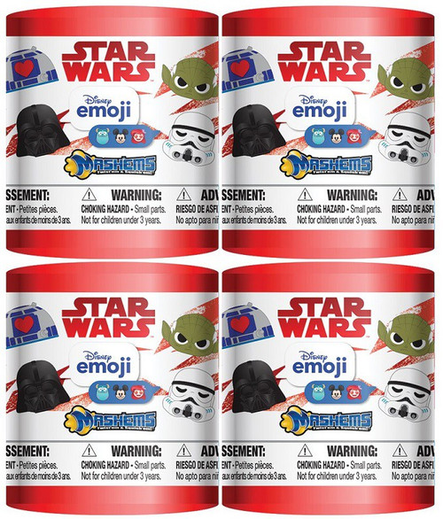 Disney Star Wars Mash'Ems Series 1 Emojis LOT of 4 Mystery Capsule Packs