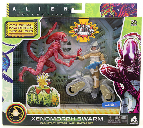 Alien Collection Colonial Marines 'VS' Aliens Xenomorph Swarm Exclusive Alien Battle Action Figure Set [Runner, Planetary Attack]