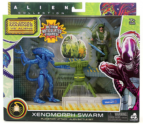 Alien Collection Colonial Marines 'VS' Aliens Xenomorph Warrior Exclusive Alien Battle Action Figure Set [Planetary Attack]
