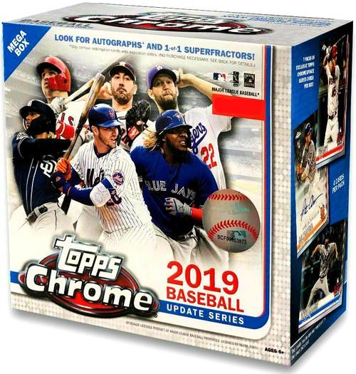 MLB Topps 2019 Chrome Update Baseball Exclusive Trading Card MEGA Box [7 Packs]