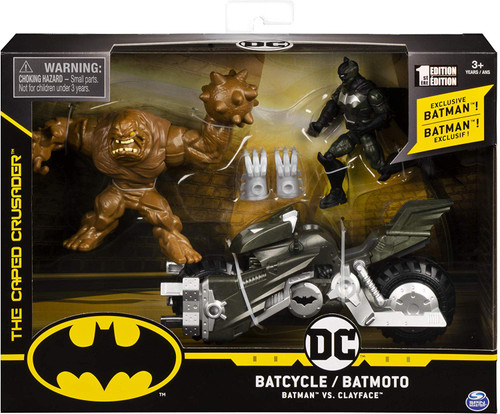 DC Batman The Caped Crusader Batcycle Action Figure Set [Batman Vs. Clayface]