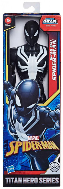 Titan Hero Series Web Warriors Black Suit Spider-Man Action Figure [2020]