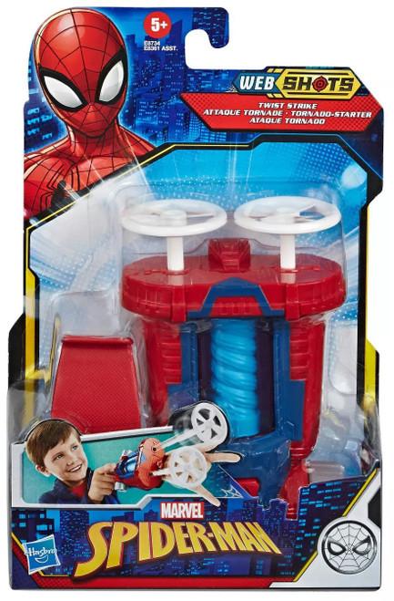 Marvel Spider-Man Web Shots Twist Strike Blaster Roleplay Toy (Pre-Order ships November)