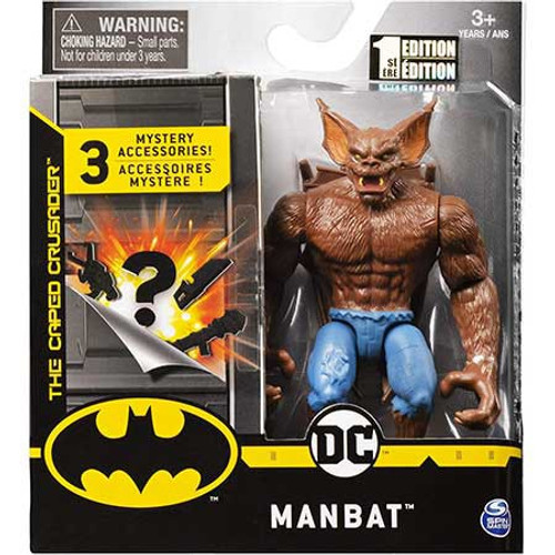 DC Batman The Caped Crusader Man-Bat Action Figure [3 Mystery Accessories!]
