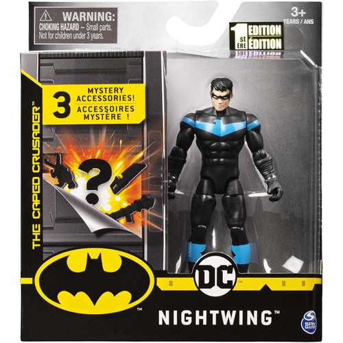 DC Batman The Caped Crusader Nightwing Action Figure [3 Mystery Accessories!]