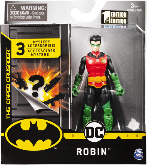 DC Batman The Caped Crusader Robin Action Figure [3 Mystery Accessories!]