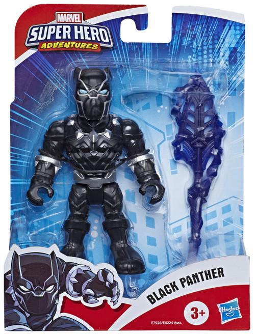 Marvel Playskool Heroes Super Hero Adventures Black Panther Action Figure Set