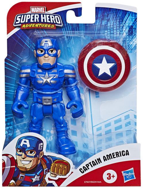 Marvel Playskool Heroes Super Hero Adventures Captain America Action Figure Set