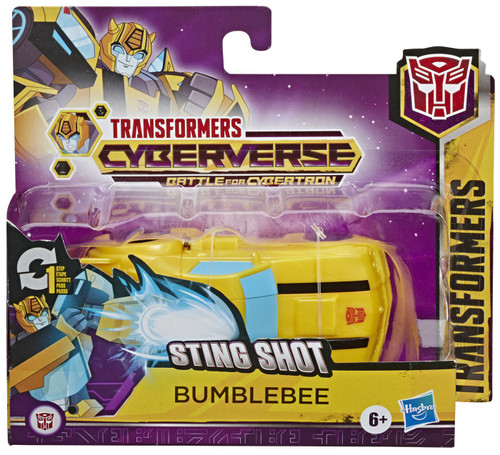 """Transformers Cyberverse Battle for Cybertron 1 Step Changer Bumblebee 4.25"""" Action Figure [Battle for Cybertron]"""