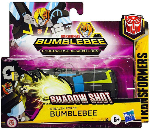 "Transformers Bumblebee Cyberverse Adventures 1 Step Changer Stealth Force Bumblebee 4.25"" Action Figure [Battle for Cybertron]"