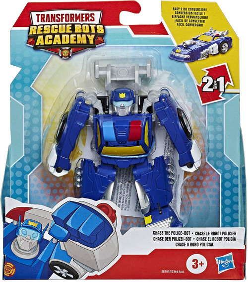 "Transformers Playskool Heroes Rescue Bots Academy Chase the Police-Bot 4.5"" Action Figure [Rescan]"