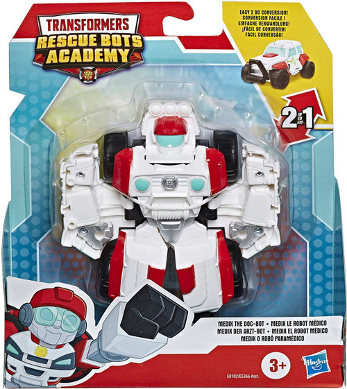 "Transformers Playskool Heroes Rescue Bots Academy Medix the Doc-Bot 4.5"" Action Figure [Rescan]"