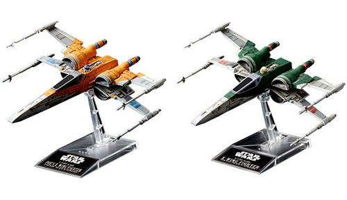 Star Wars Rise of Skywalker Poe's X-Wing & X-Wing Fighter 4-Inch Model Kit