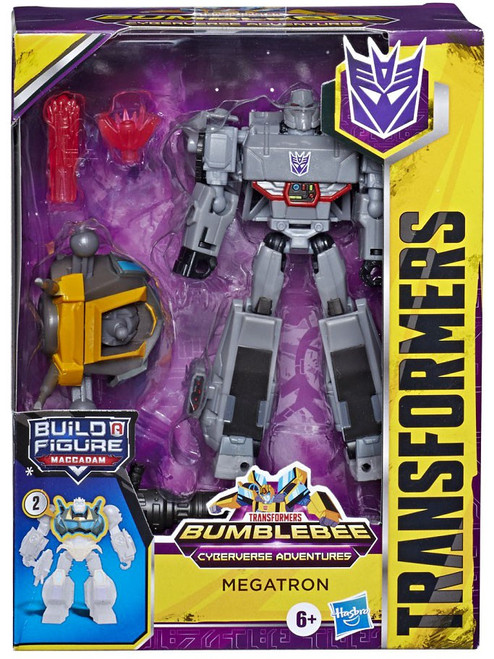 Transformers Bumblebee Cyberverse Adventures Build a Maccadam Megatron Deluxe Action Figure