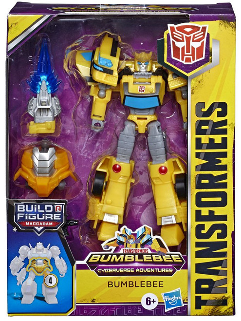 Transformers Cyberverse Adventures Build a Maccadam Bumblebee Deluxe Action Figure