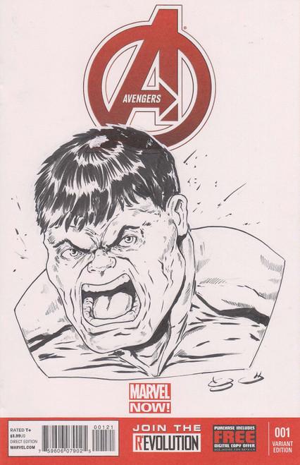 Marvel Comics Avengers #1 Original Sketch Cover by George Vega Comic Book
