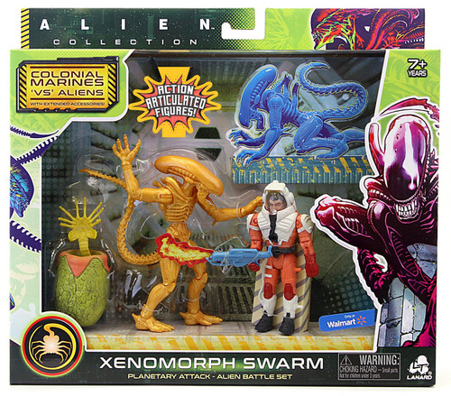 Alien Collection Colonial Marines 'VS' Aliens Xenomorph Swarm Exclusive Alien Battle Action Figure Set [Drone, Planetary Attack]