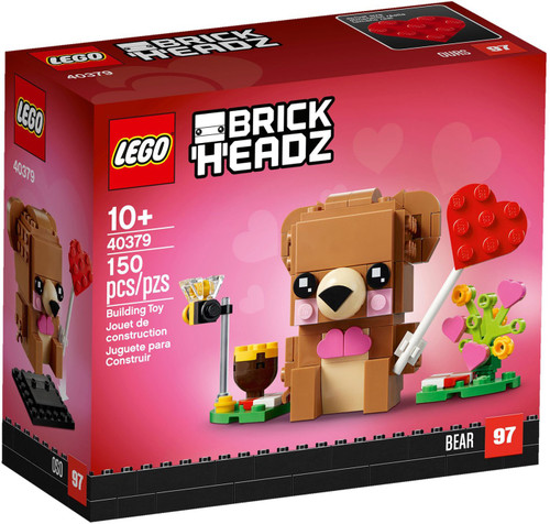 LEGO Holiday Brick Headz Valentine's Bear Set #40379