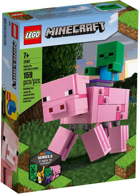 LEGO Minecraft BigFig Pig with Baby Zombie Set #21157