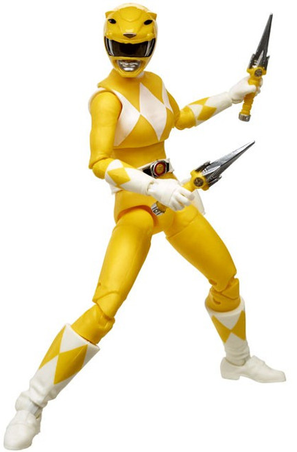 Power Rangers Mighty Morphin Lightning Collection Yellow Ranger Action Figure