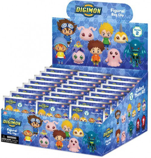 3D Figural Keyring Digimon Series 2 Mystery Box [24 Packs]