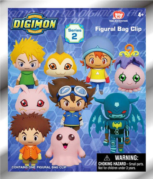 3D Figural Keyring Digimon Series 2 Mystery Pack [1 Figure]